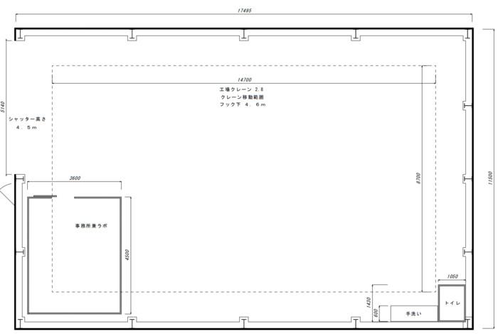 レンタル工場(ラボ付)排ガス処理など【燕三条】の画像1